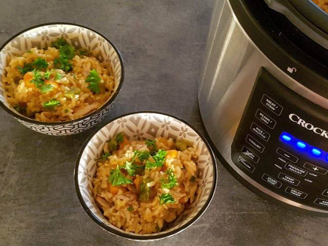 Kyllingrisotto med red curry